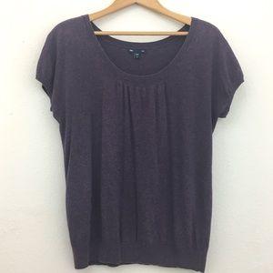 GAP short sleeve top purple size M